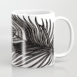Intricate Peacock Feather Coffee Mug