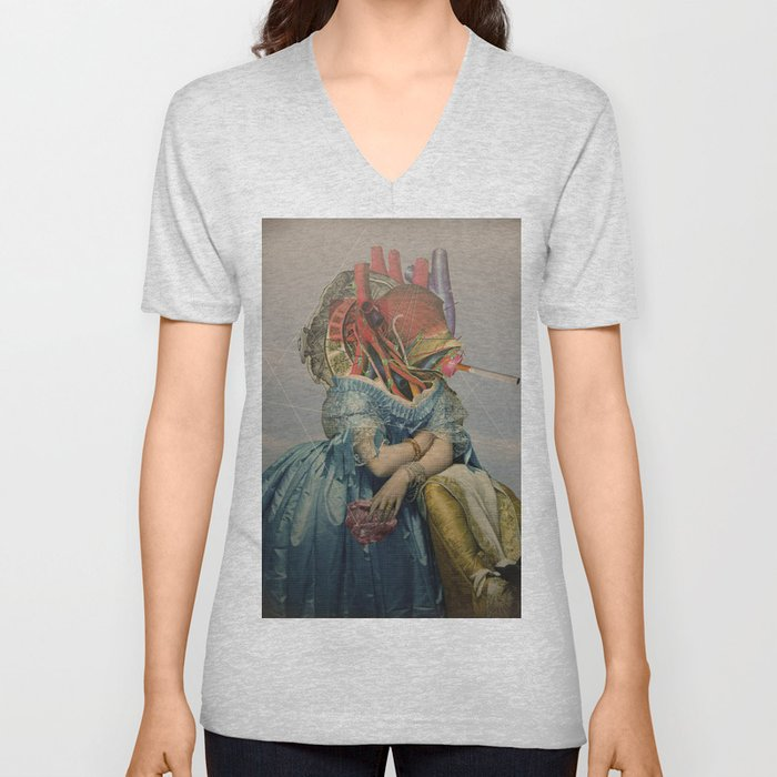 Another Portrait Disaster · the queen of flesh Unisex V-Neck