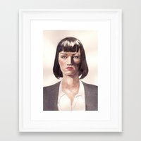 mia wallace Framed Art Prints featuring Mia Wallace by Ow Wei Yi