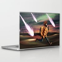 battlefield Laptop & iPad Skins featuring Air Raid in the Battlefield by Lukas Stobie