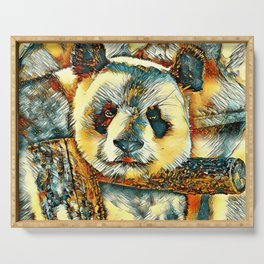 AnimalArt_Panda_20180101_by_JAMColors Serving Tray