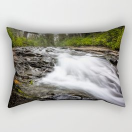 Rush - Paradise River Rushes to Falls in Mt. Rainier National Park Rectangular Pillow