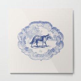 DelftWare Wolf Metal Print