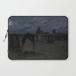 Whitby Abbey darkness Laptop Sleeve