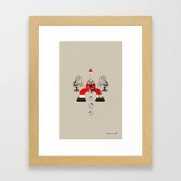 Who loves christmas? Framed Art Print