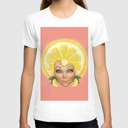 Lemon fruit face T-shirt