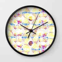 scales Wall Clocks featuring Scales by Rachel Clore
