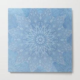 fine denim star mandala Metal Print