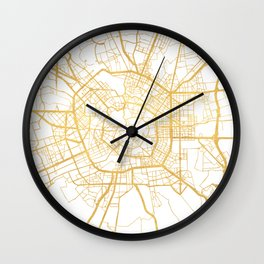 MILAN ITALY CITY STREET MAP ART Wall Clock