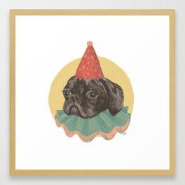 Party Pug Framed Art Print