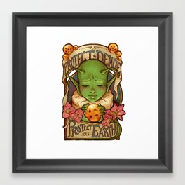 Protect Dende, Protect the Earth Framed Art Print