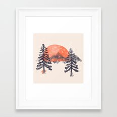 First Snow... Framed Art Print