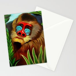 """Henri Rousseau """"Mandrill in the Jungle"""", 1909 Stationery Cards"""