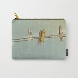 Vintage Clothespin Carry-All Pouch