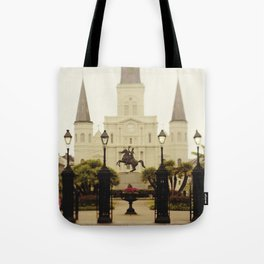 New Orleans Looking Through Jackson Square Tote Bag