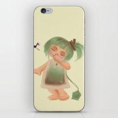 Green Tea Girl iPhone & iPod Skin