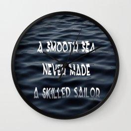 Smooth Sea Wall Clock
