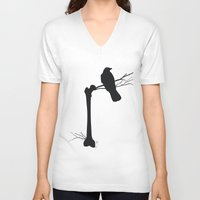 bones V-neck T-shirts featuring Bones by Gustik Albo