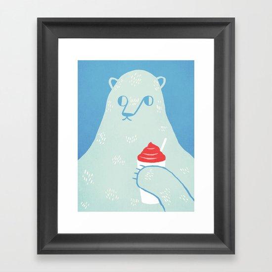 Polar Beverage Framed Art Print