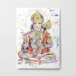 Hanuman Hindu God in the form of a monkey Metal Print