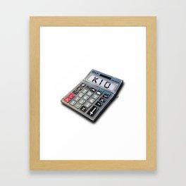 Kio the Calculator Framed Art Print