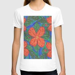 Luau Flower Print T-shirt