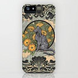 Cat Nouveau iPhone Case