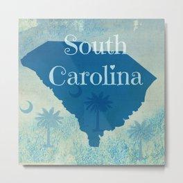 Custom Design - South Carolina Metal Print
