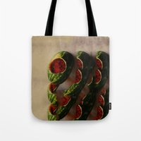 watermelon Tote Bags featuring Watermelon by Take Five