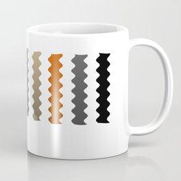 Vertical Waves - Metallic Gold, Silver and Black Vertical Wavy Stripes Coffee Mug