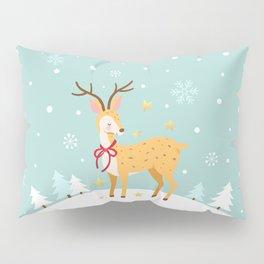 Winter deer Pillow Sham