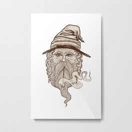 Haldor the Wizard Metal Print