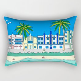 Miami South Beach Rectangular Pillow