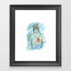 Robin nest Framed Art Print