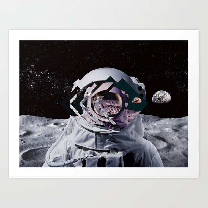 Spaceman Oh Spaceman Art Print By Hunterofwoods Society6