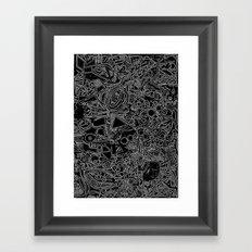 White/Black #1 Framed Art Print