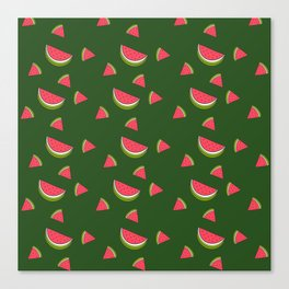 A Sweet Slice watermelon Print Canvas Print