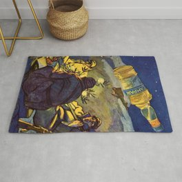 Rare WWI 1916 Vintage Campari Advertisement by Marcello Ddudovich Rug