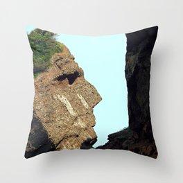 Indian Head Rock Throw Pillow