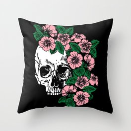 The Flourishing Death Throw Pillow