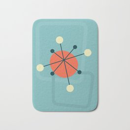 Mid century atomic design Bath Mat