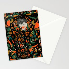 Black Velvet and Clementine Stationery Cards