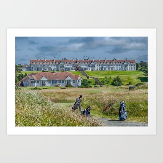 Turnberry Hotel and Golf Course Art Print