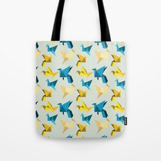 paper cranes in flight Tote Bag