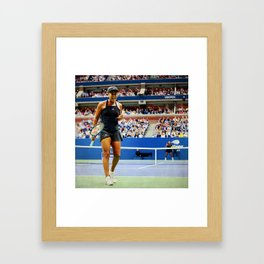 Naomi Osaka Tennis Champion Framed Art Print