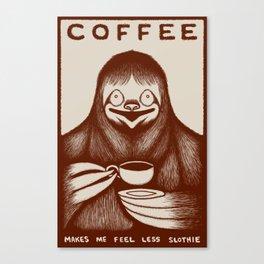 Coffee Sloth Canvas Print