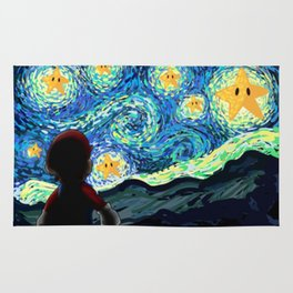 Special Man in Starry Night Rug