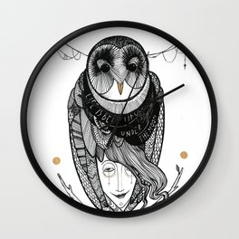 bird women Wall Clock