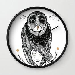 bird women Wall Clock