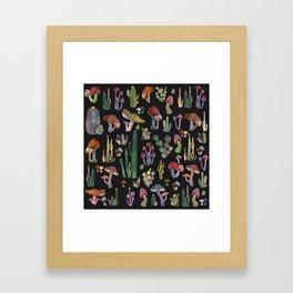 Mushrooms Pattern Framed Art Print